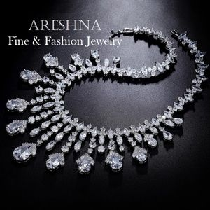 Areshna Jewelry - Chandelier Swarovski Crystals Luxury Necklace